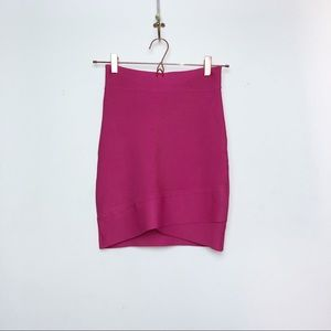 BCBGMaxAzria Pink bodycon skirt